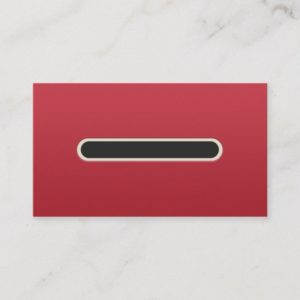 Cool Red Retro Gamer Business Card Template
