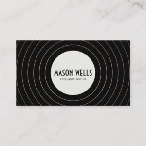 Cool Stylish Black and White Bold Circle Business Card
