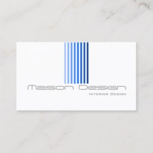 Cool White, Blue and Grey Modern - Business Card