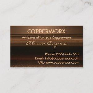 COPPER METALLIC Business Cards