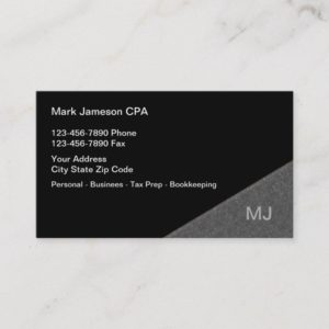 CPA Accountant Services Business Card