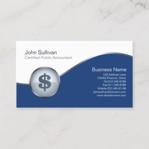 CPA Business Card Dollar Sign Icon