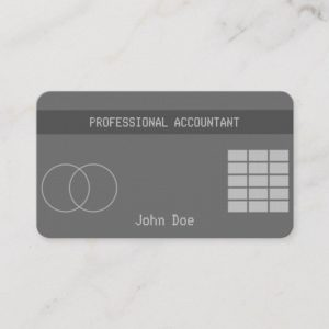 """Credit Card Style Business Card No.19"""