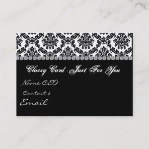 DAMASK Design BLACK & WHITE  Business Card