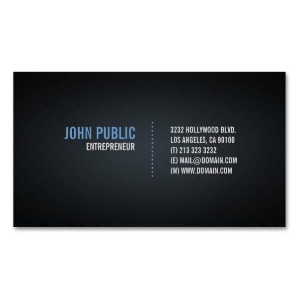 Diamond Tile Pattern Modern Black Design Magnetic Business Card