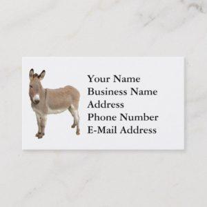 Donkey Photograph Design Business Card