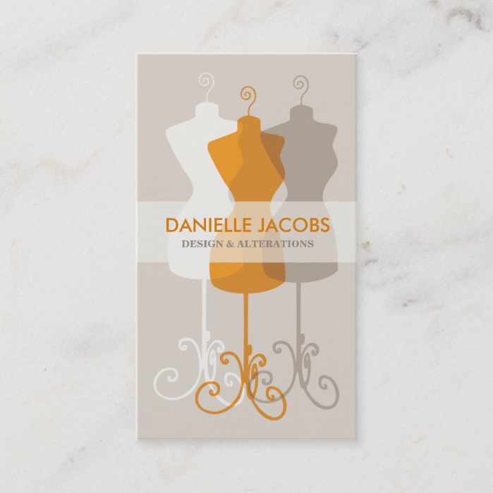 Dress Form Fashion Design Business Card Business Card Branding