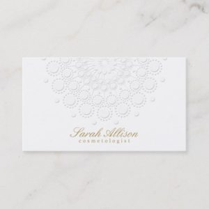 Elegant and Simple Cosmetologist White Business Card