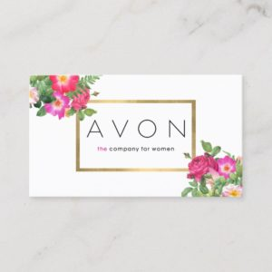 Elegant Beauty Florals Avon Representative Business Card