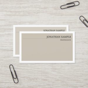 Elegant Classic Colors Minimal Plain Professional Business Card