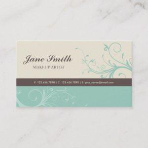 Elegant Flower Floral Retro Modern Stylish Classy Business Card