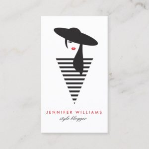 Elegant Glamour Mod Stylist, Salon, Blogger Business Card