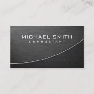 Elegant Professional Modern Plain Metal Black Business Card