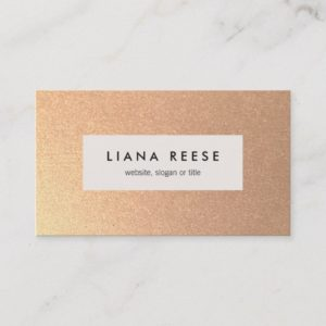 FAUX Rose Gold Subtle Glitter Beauty Salon Business Card