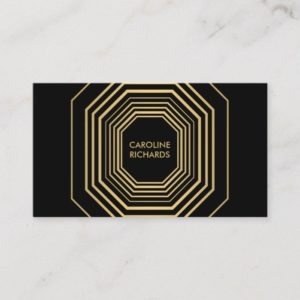 Glam Deco Jewelry Design Fashion Boutique No. 1 Business Card