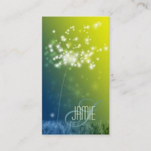 Glittering Dandelions Professional Business Cards