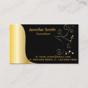 Gold Black Elegant Template Business Card