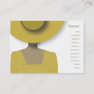 Gold Hat - Chubby Business Card