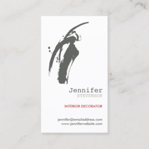 GRAY BRUSHSTROKE BUSINESS CARD