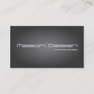 Gray Text Only Modern Minimalistic Business Card