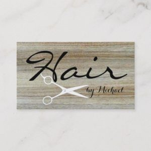 Hair Stylist Elegant Wood Grain Background #4 Business Card