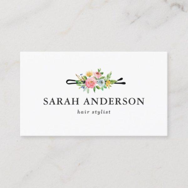 Hair Stylist Professional Logo Modern Elegant Business Card