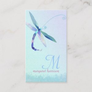 Hazy Morning Dragonfly Professional Business Cards