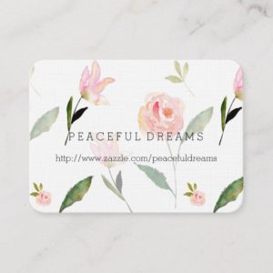 Hello Beautiful Watercolor Floral Business Card
