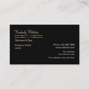 Hollistics Beauty Spa Business Card
