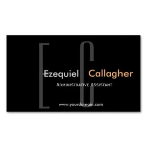 In the Dark no More. Minimalist  Type Business Card Magnet