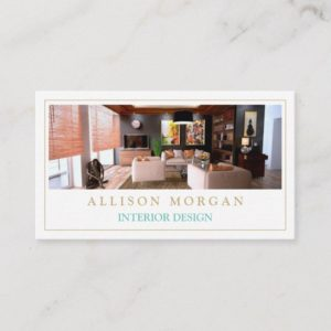 Interior Design Photo Showcase Modern Stylish Business Card