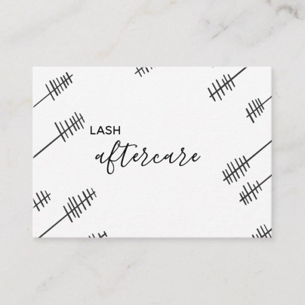 Lash Aftercare Card