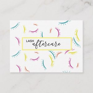 Lash Aftercare Card Color