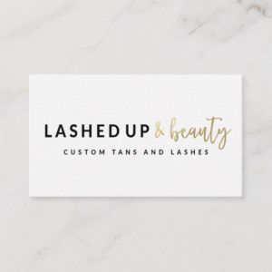 Lashed Up & Beauty Business Cards