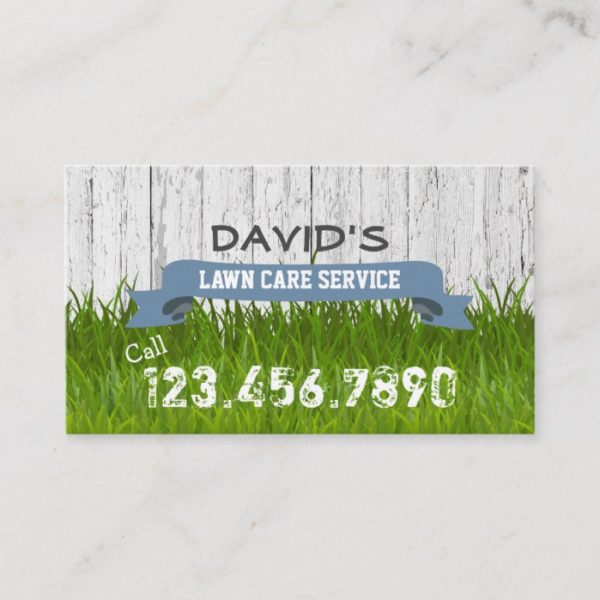 Lawn Care & Landscaping Service Professional Business Card