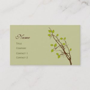 Leaves and Branches Designer Tree Landscaping Business Card