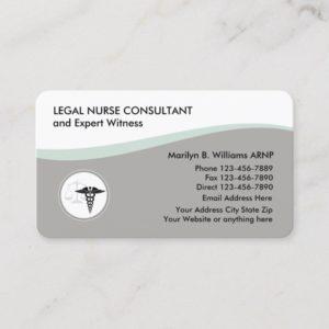 Legal Nurse Practitioner Design Business Card