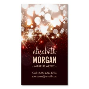 Makeup Artist - Modern Glitter Sparkle Magnetic Business Card