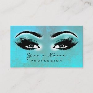 Makeup Eyebrow Eyes Lashes Brown Ocean Lux Business Card