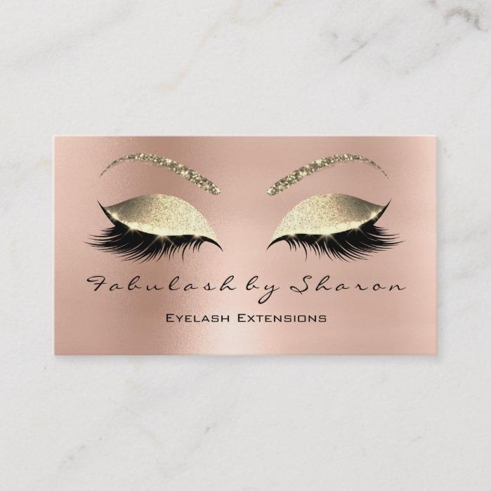 d7f47fa675d Makeup Eyebrow Lashes Glitter Diamond Pink Luxury Business Card ...
