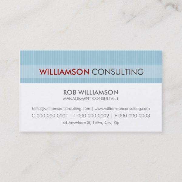 MASCULINE BUSINESS CARD :: minimal pinstripe 14