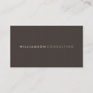 MASCULINE BUSINESS CARD :: simple pinstripe 6