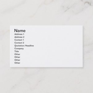 Mechanics Business Card