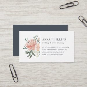 Midsummer Floral Wedding Planner Business Card