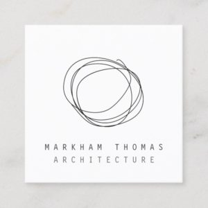 Minimal and Modern Designer Scribble Logo Square Business Card