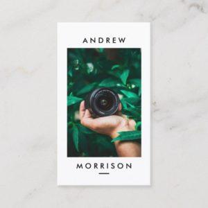 Minimalist Camera Photographer Business Card
