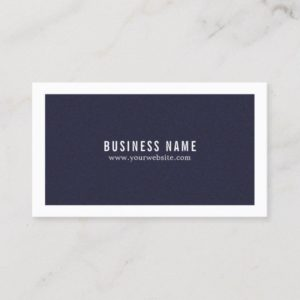 Minimalist Elegant Texture Blue White Consultant Business Card