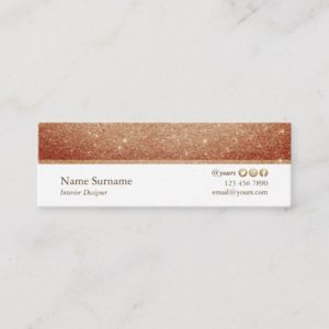 Minimalist Glitter Designer Mini Business Card