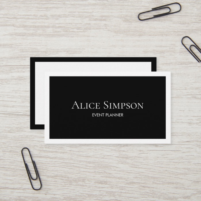 Minimalist Modern Luxury Business Card