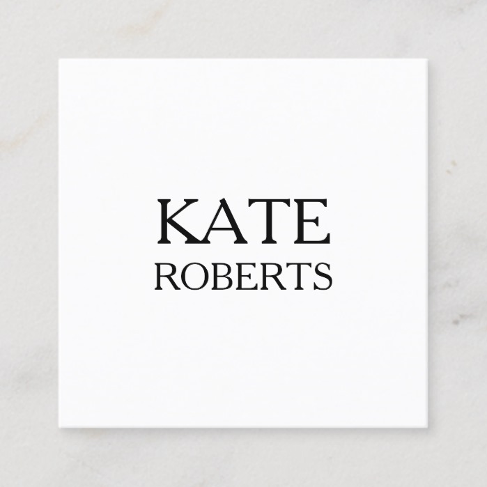 Minimalist modern professional business card